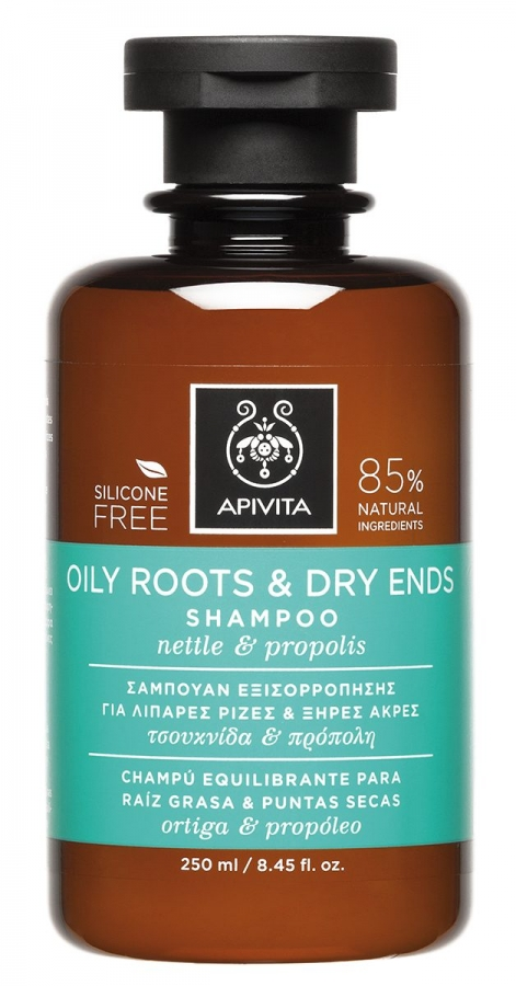 ba392d0548 APIVITA Oily Roots   Dry Ends Shampoo with Nettle   Propolis (250ml ...