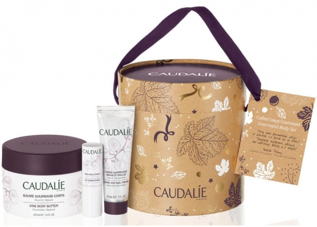CAUDALIE Vine Body Butter (225ml) + FREE GIFTS Hand and Nail Cream (30ml) & Lip Conditioner (4,5g)