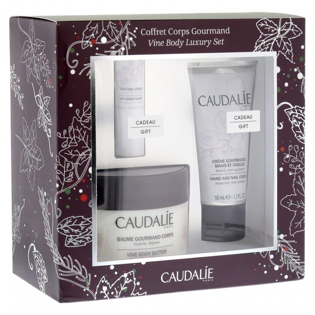 CAUDALIE Vine Body Butter (225ml) + FREE GIFTS Hand and Nail Cream (50ml) & Lip Conditioner (4,5g)
