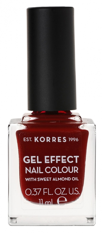 KORRES Gel Effect Nail Colour_59 Wine Red (11ml)