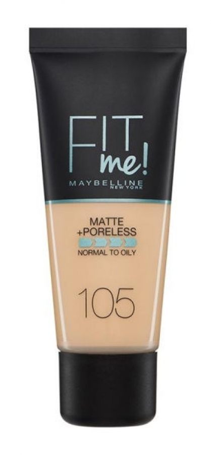 Fit Me Matte & Poreless Liquid Foundation_105 Natural Ivory (30ml)