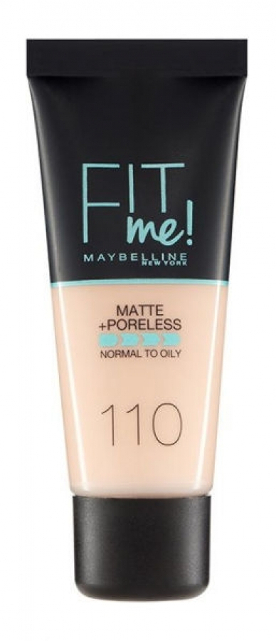 Fit Me Matte & Poreless Liquid Foundation_110 Porcelain (30ml)