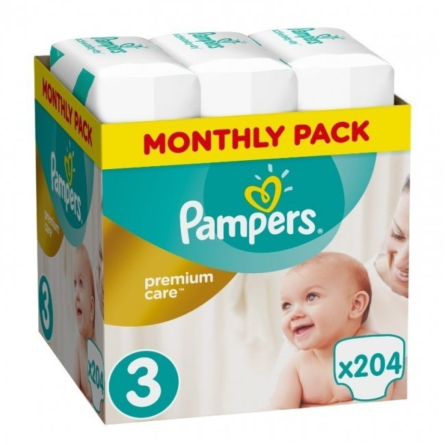 PAMPERS [MONTHLY PACK] Premium Care No3 (5-9kg) 204τμχ