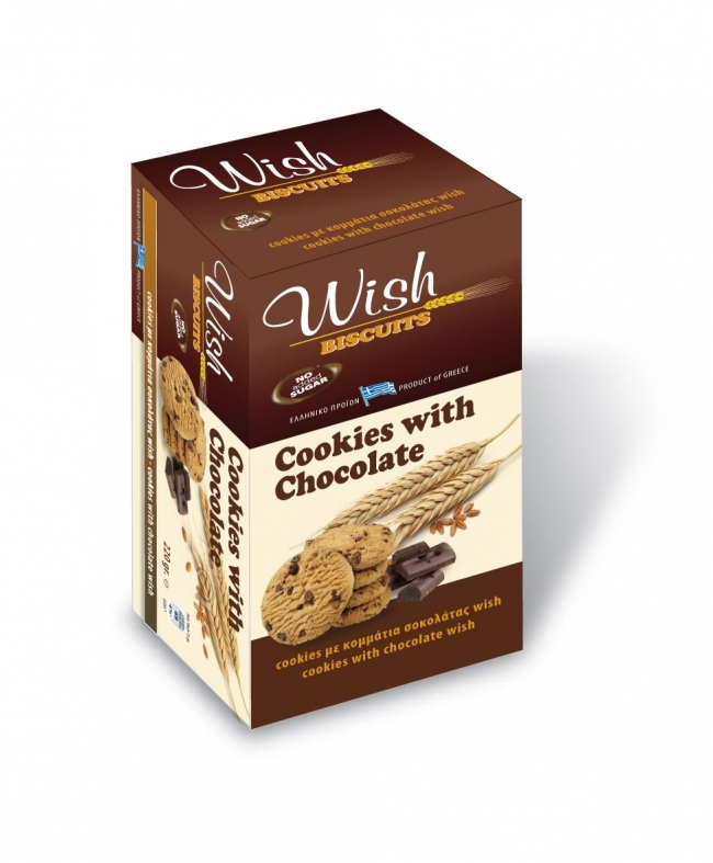 WISH Biscuits Cookies with Chocolate (90g)