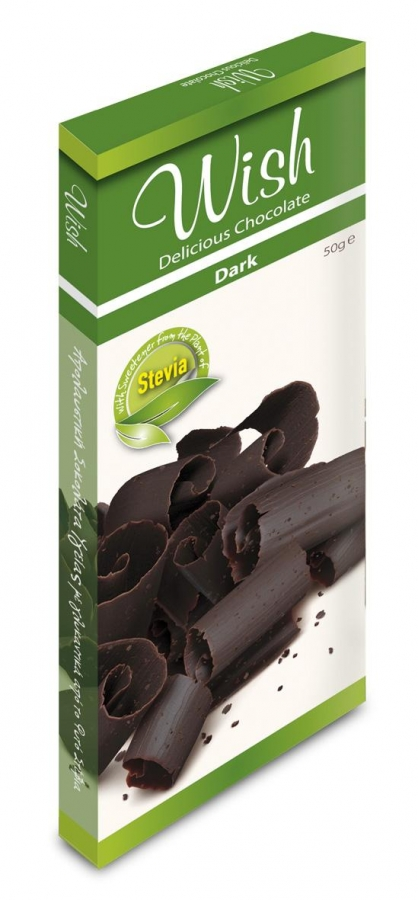 WISH Delicious Chocolate | Σοκολάτα Υγείας με Στέβια (50g)