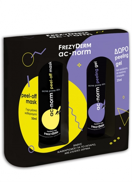 Ac-Norm Peel-Off Mask (50ml) + ΔΩΡΟ Peeling Gel (25ml)