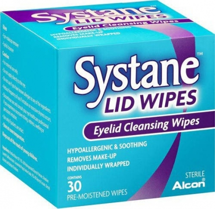 ALCON Systane Lid Wipes Εμποτισμένα Μαντηλάκια (30 τεμάχια)