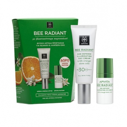 APIVITA Bee Radiant Age Defense Illuminating Cream SPF30 (50ml) + ΔΩΡΟ Bee Radiant Age Defense Illuminating Eye Cream (15ml)