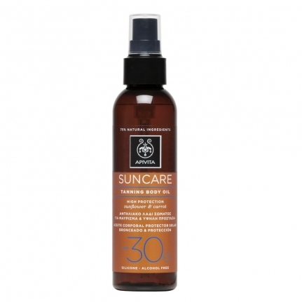 APIVITA Suncare Tanning Body Oil SPF30 (150ml)