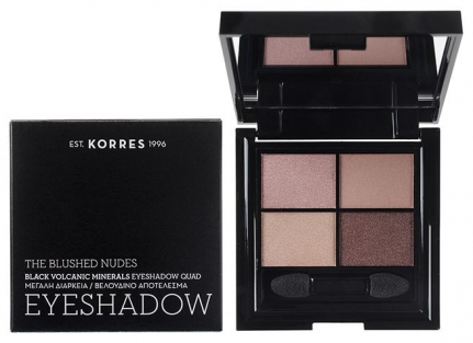 KORRES Black Volcanic Minerals Eyeshadow Quad • The Blushed Nudes (5g)