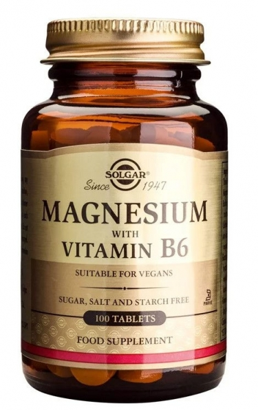 Magnesium with Vitamin B6 (100 ταμπλέτες)