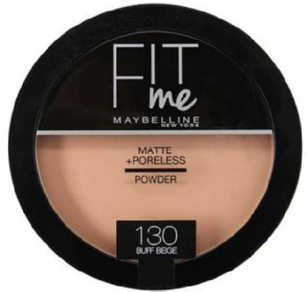 MAYBELLINE NEW YORK Fit Me! Matte & Poreless Powder_130 Buff Beige (14g)