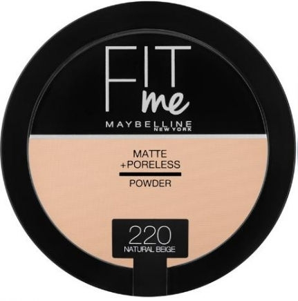 Fit Me Matte & Poreless Powder_220 Natural Beige (14g)