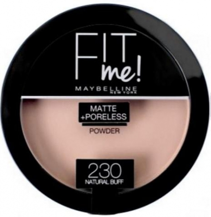 MAYBELLINE NEW YORK Fit Me! Matte & Poreless Powder_230 Natural Buff (14g)